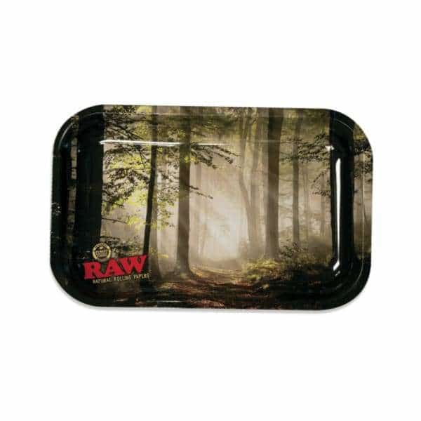 RAW Smokey Forest Small Rolling Tray | bg-sales-1.