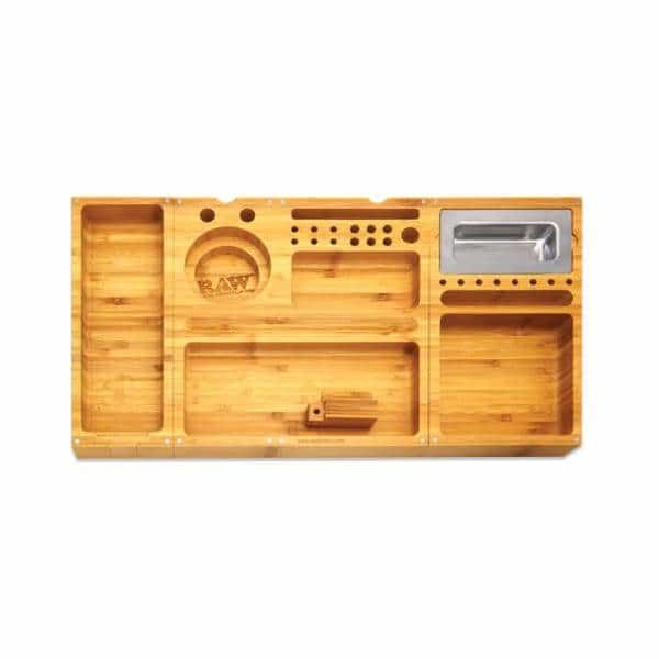 RAW Triple Flip Bamboo Rolling Tray | bg-sales-1.