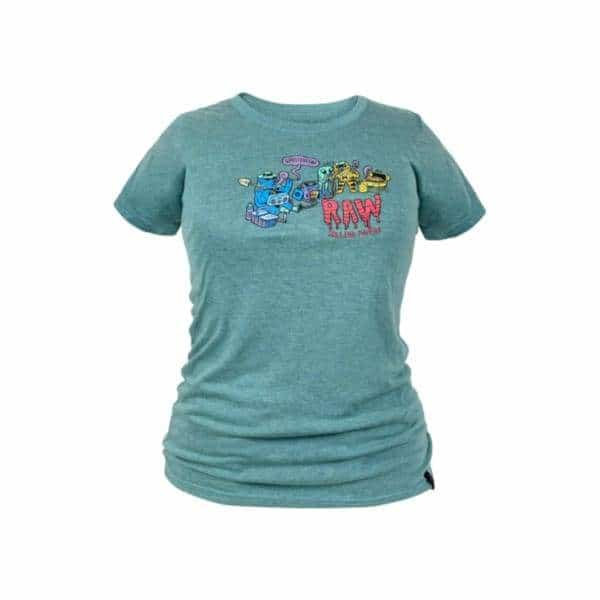 RAW x Ghostshrimp Women's Green T-Shirt - BG Sales (4396278153348)