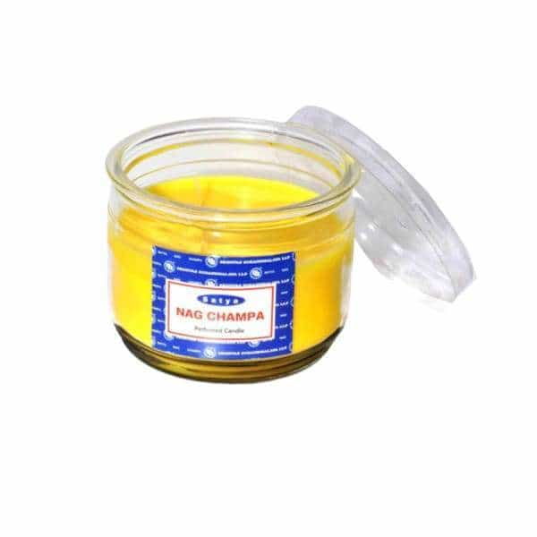 Satya Nag Champa 10oz Jar Candles - BG Sales (4334730903634)