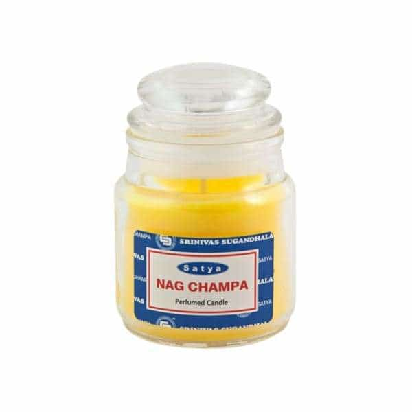 Satya Nag Champa 3oz Jar Candles - BG Sales (4334726250578)