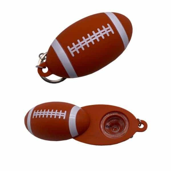 Silicone Football Keychain Pipe - BG Sales (4169229893714)
