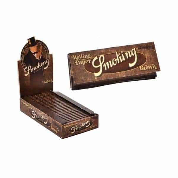 Smoking Brand Brown Rolling Papers 1 1/4