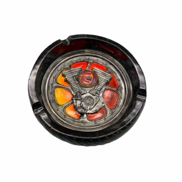 V-Twin Engine/Tire Handmade Ashtray - BG Sales (4448723173508)