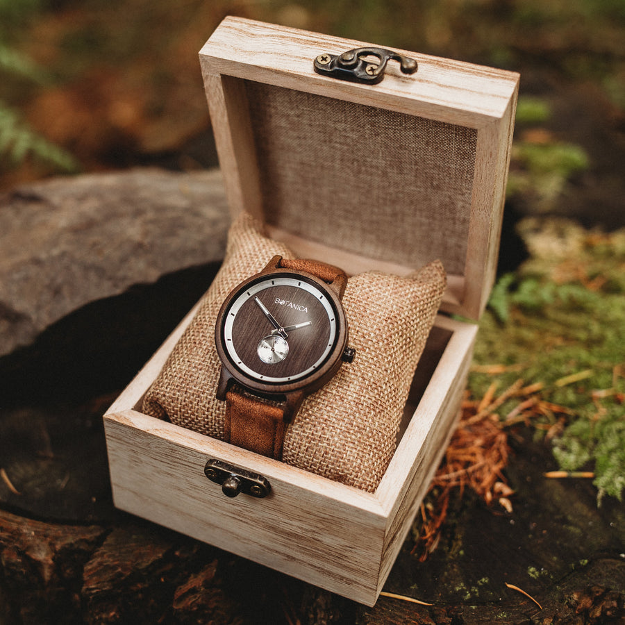 Botanica Watches Olive, Sandal Wood Face with Vegan Tan Strap