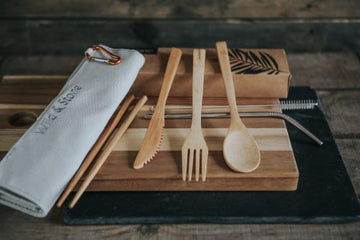 Reusable Bamboo Picnic Cutlery Set – 8 Piece