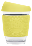 Neon Kactus Reusable Glass Coffee Cup – Sun Is Shining 12oz