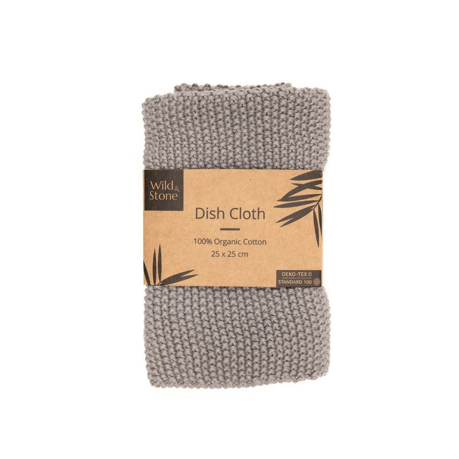 Dish Cloths – 100% Organic Cotton (Dove-Grey)