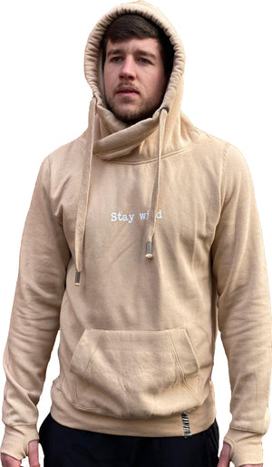 Stay wild crossover hoodie