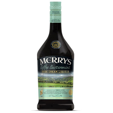 Merrys Irish Cream Toffee-Buttermint flødelikør 17%