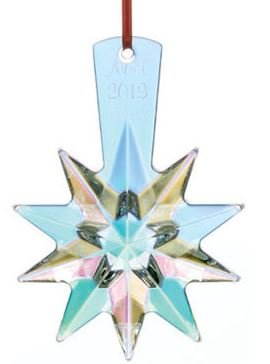 Baccarat #2804703, 2013 Annual Ornament Christmas Star Iridescent