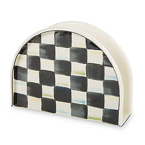 MacKenzie-Childs Steel Courtly Check Napkin Holder
