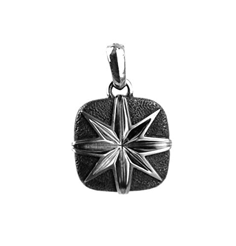 David Yurman Sterling Silver Cushion North Star Pendant Enhancer 44P