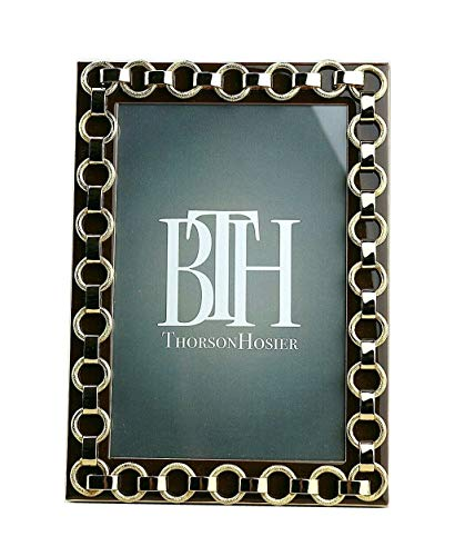 Thorson Hosier 4x6 Derby Brown Enamel Gold Plated Frame #24 BX15