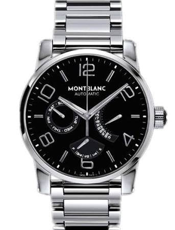 MontBlanc Timewalker Automatic Black Dial Stainless Steel Mens Watch 103095