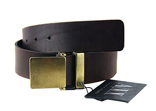 AX ARMANI EXCHANGE LIMITED ED. 20 YEARS BELT BROWN 100% LEATHER BRAND NEW SZ 32