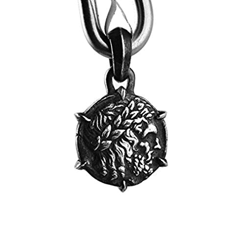 David Yurman Solid Sterling Silver Petrus Zeus Amulet Pendant # 604 New Box