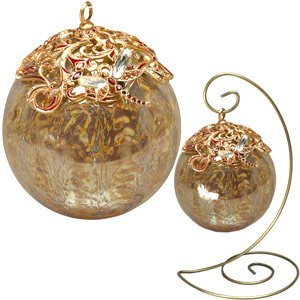 Jay Strongwater Golden Glass Ornament