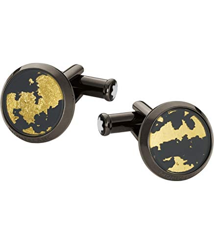 Montblanc Sartorial Black Stainless Steel Cuff Links 112907