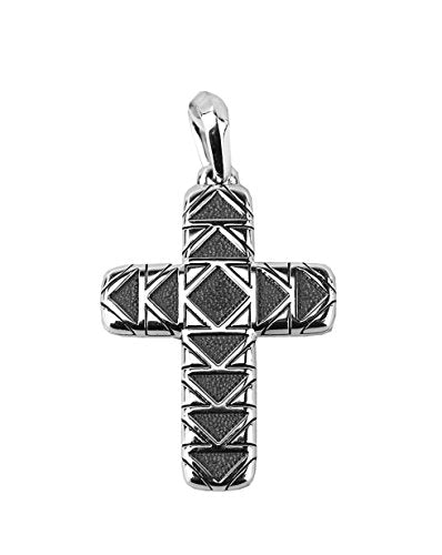 David Yurman Sterling Silver 42mm Frontier Cross Pendant 30P New