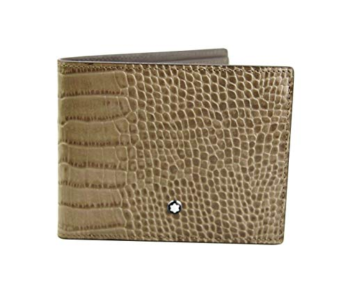 MONTBLANC SELECTION MEISTERSTUCK 114446 6CC WALLET TAUPE LEATHER