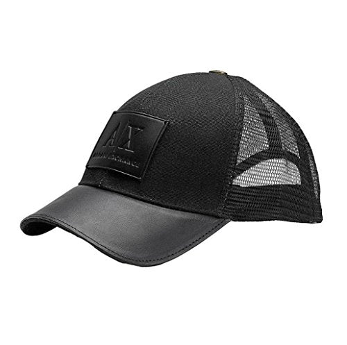 Armani Exchange Brand New with Tags Leather Patch Baseball Hat