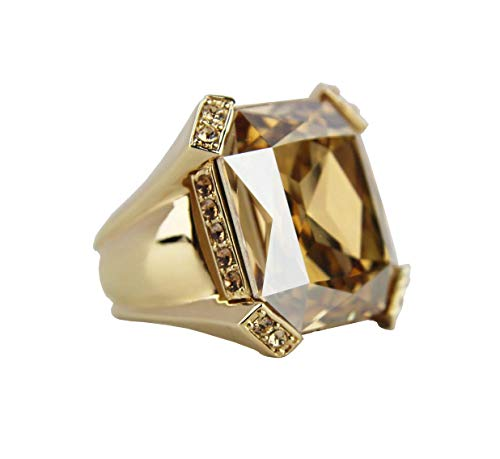 JUDITH LEIBER Classics Christo Cut Square Crystal Ring Size 7#R8