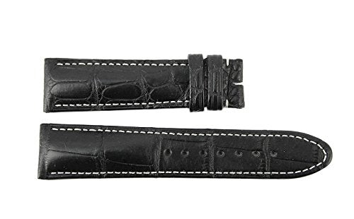 Sport Black 100% Alligator Strap Band 100/70/19 mm 9452#11 for Montblanc