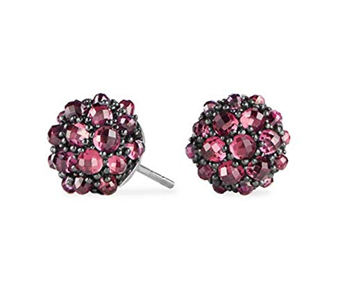 David Yurman 10mm Osetra Cable Berries Rhodolite Garnet Stud Earrings