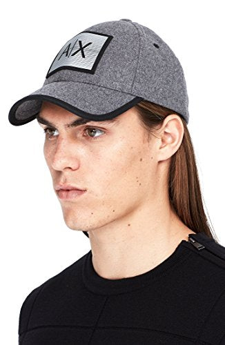 Armani Exchange Mens Wool Felt Logo Cap