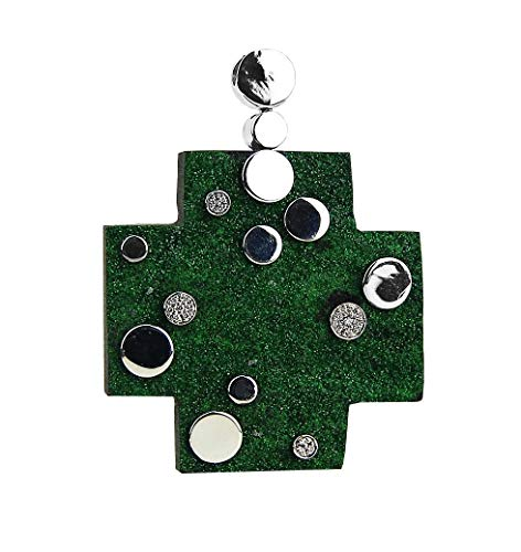 John Hardy Green Garnet, Sterling Silver & Diamonds Cross.- #3