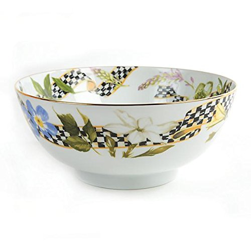 New MACKENZIE CHILDS Thistle & Bee Serving Bowl 9