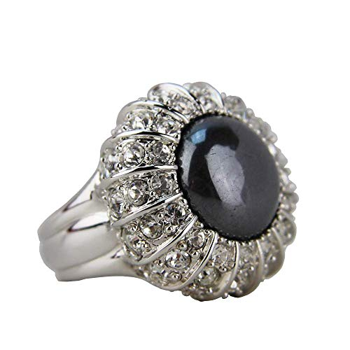 JUDITH LEIBER Ava Cabochon and Pave Crystal Ring Size 7# R43