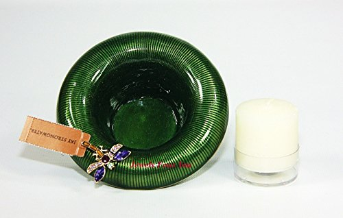Jay Strongwater Dragonfly on Green Trumpet Votive Candle Holder