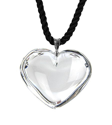 Baccarat Jewelry Glamour Heart Clear Pendant Necklace & Silver