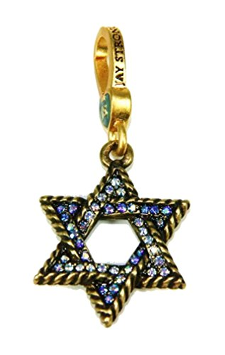 Jay Strongwater Charm Star of David Isaak Swarovski
