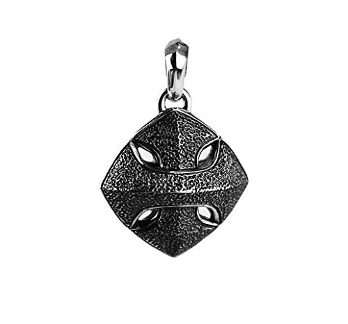 David Yurman Solid Sterling Silver Armory Cushion Amulet Pendant New # 612 Box