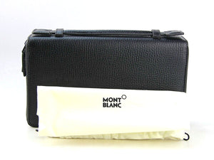 MONTBLANC TRAVEL COMPANION ZIPPER & HANDLE 119291 BROWN LEATHER BAG 11CC