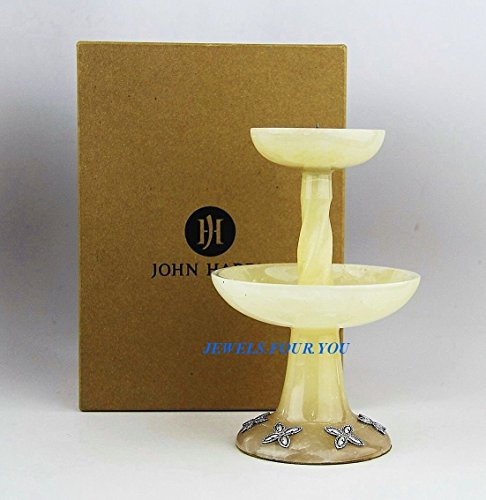 John Hardy Home Amazing Golden Alabaster & St. Silver Candle Holder 7