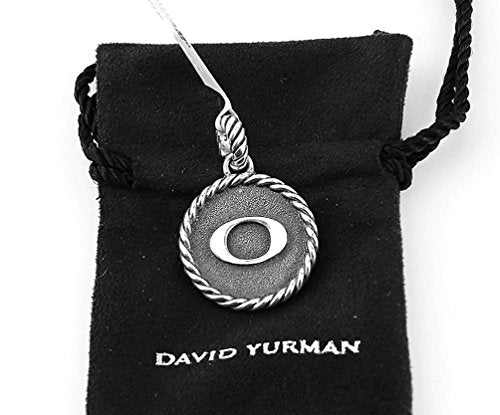 David Yurman AMAZING SOLID STERLING SILVER INITIAL O 23 mm ROUND PENDANT