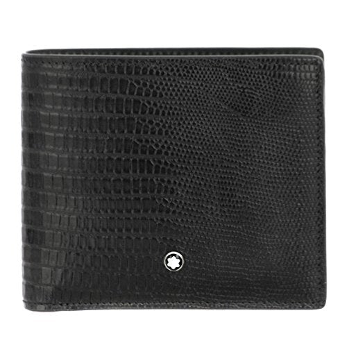Montblanc Selection Lizard Man Wallet 8cc Black 116290