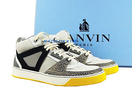 Lanvin White, Yellow 100% Leather Rubber Sole Shoes Sneakers Size 8# 17