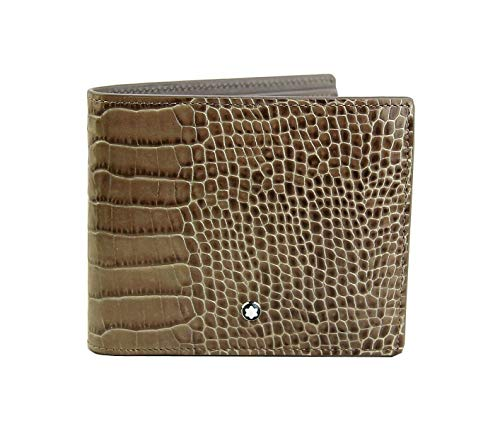 MONTBLANC SELECTION MEISTERSTUCK 114449 8CC WALLET TAUPE LEATHER