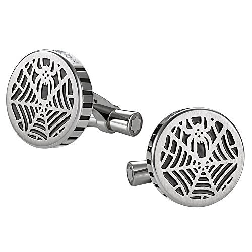 Montblanc Spider Stainless Steel Cufflinks 114708 NO BOX