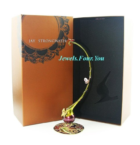 JAY Strongwater Ornament Holder Stand with Butterfly & Swarovski Crystal. 13