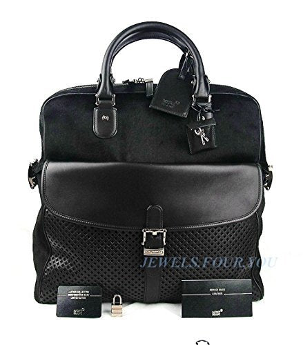 Montblanc Weekender Limited of 50 Bag Dark Purple Leather & Pony Fur New 104898