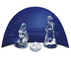 Baccarat Nativity Lacquer Stand