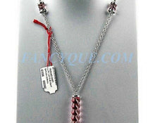 Load image into Gallery viewer, Baccarat JEWELRY TORSADE STERLING SILVER LARGE PINK FULL LEAD NECKLACE NEW 930