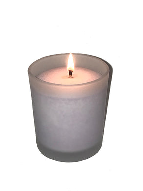 CANDLE IN FROSTED GLASS