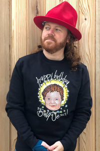 HBD Baby Jesus! Crimbo Sweatshirt in Black